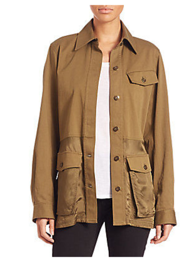 Cotton Twill Military Parka
