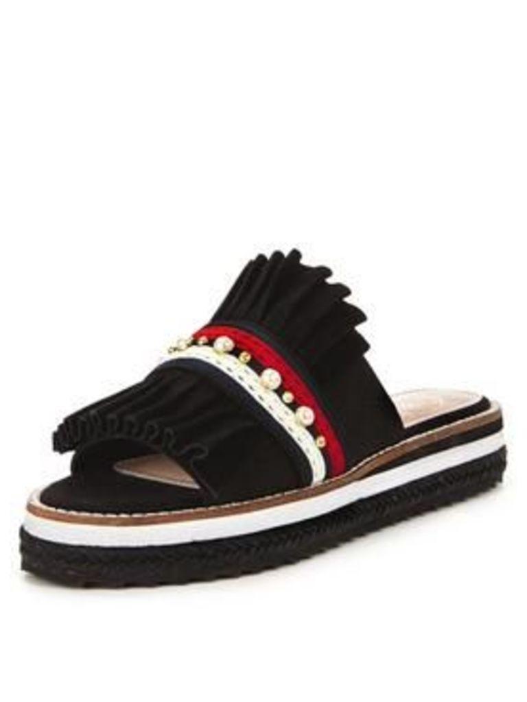 Kg Madamme Fringed Slider Sandals