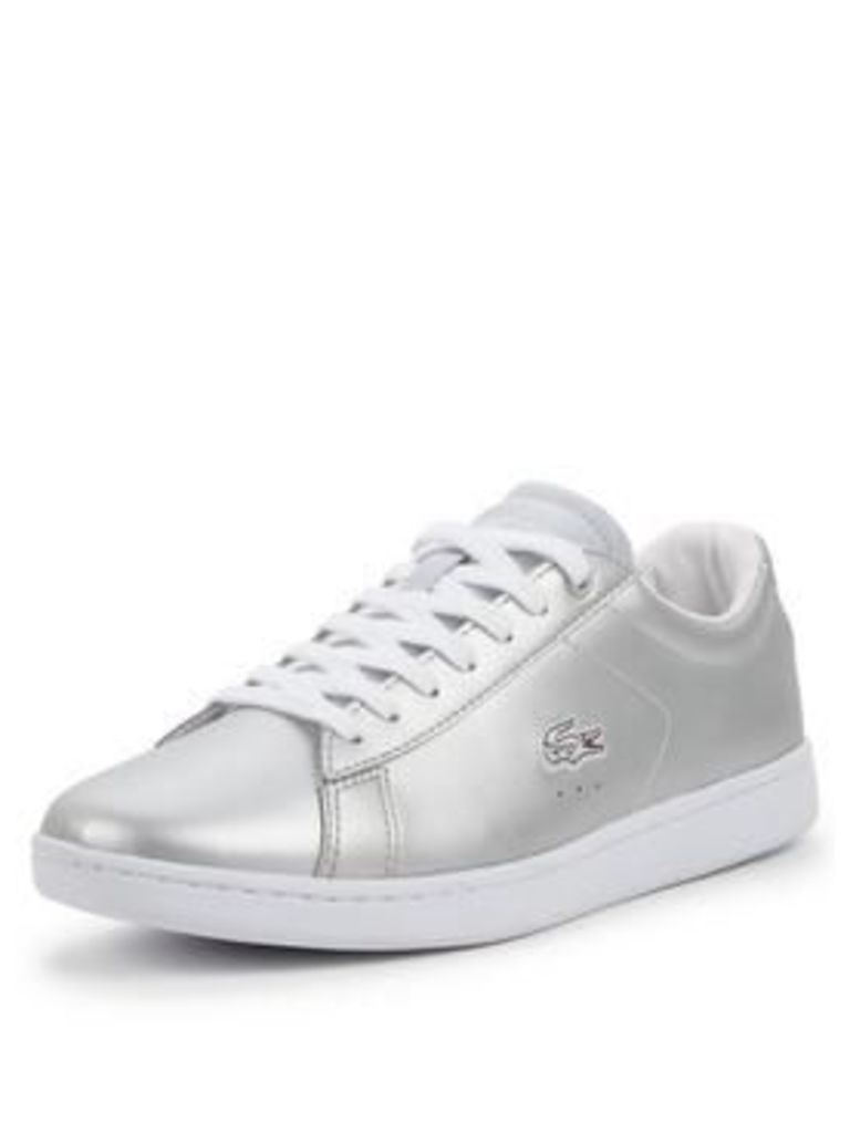 Lacoste Lacoste Carnaby Evo Metallic Lace Up Plimsoll