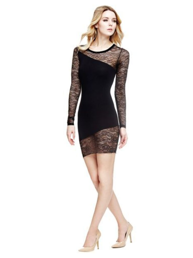 Guess Dress With Floral Lace Insert