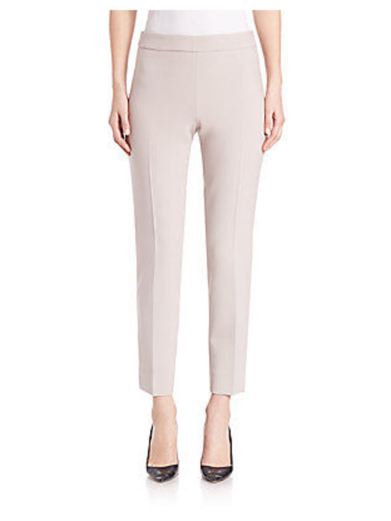 Solid Stretch Cropped Pants