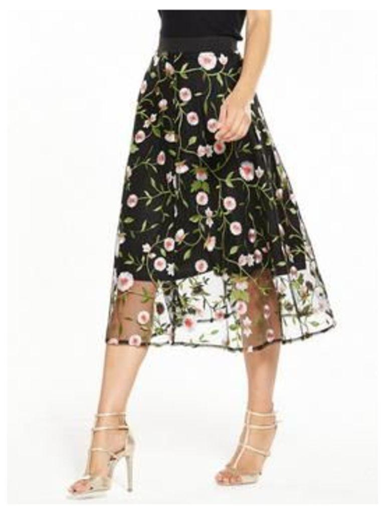 V By Very Embroidered Full Skirt