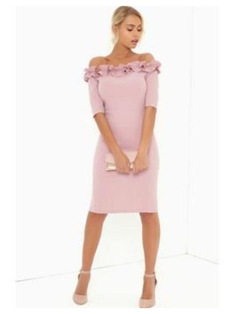 Paper Dolls Paper Dolls Rose Ruffle Bodycon Dress
