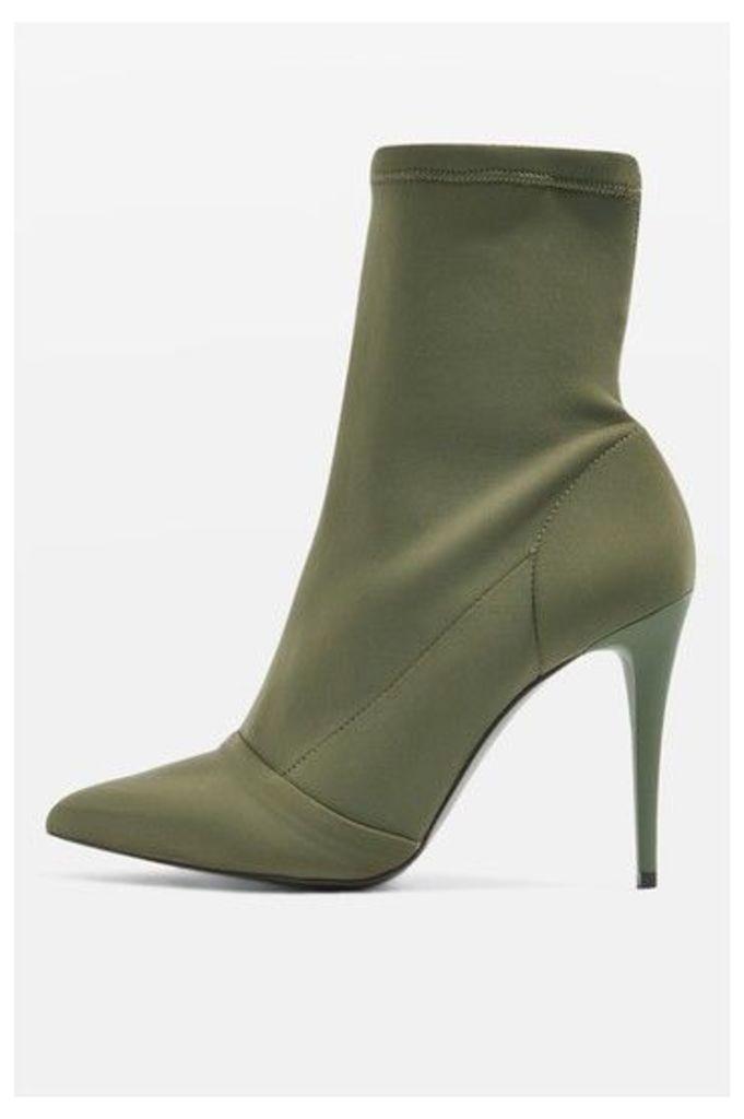 Womens HUBBA Pointed Socks Boots - Khaki, Khaki