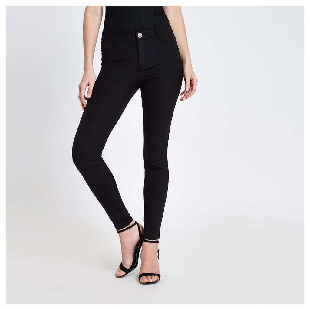 River Island Womens Black Molly skinny fit jeggings