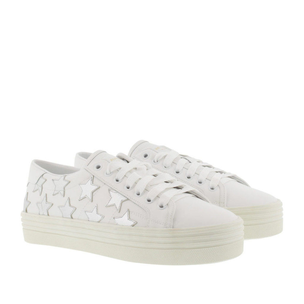 Saint Laurent Sneakers - Sl/39 California Stars Wedge Sneaker Off White/Argento - in white, silver - Sneakers for ladies