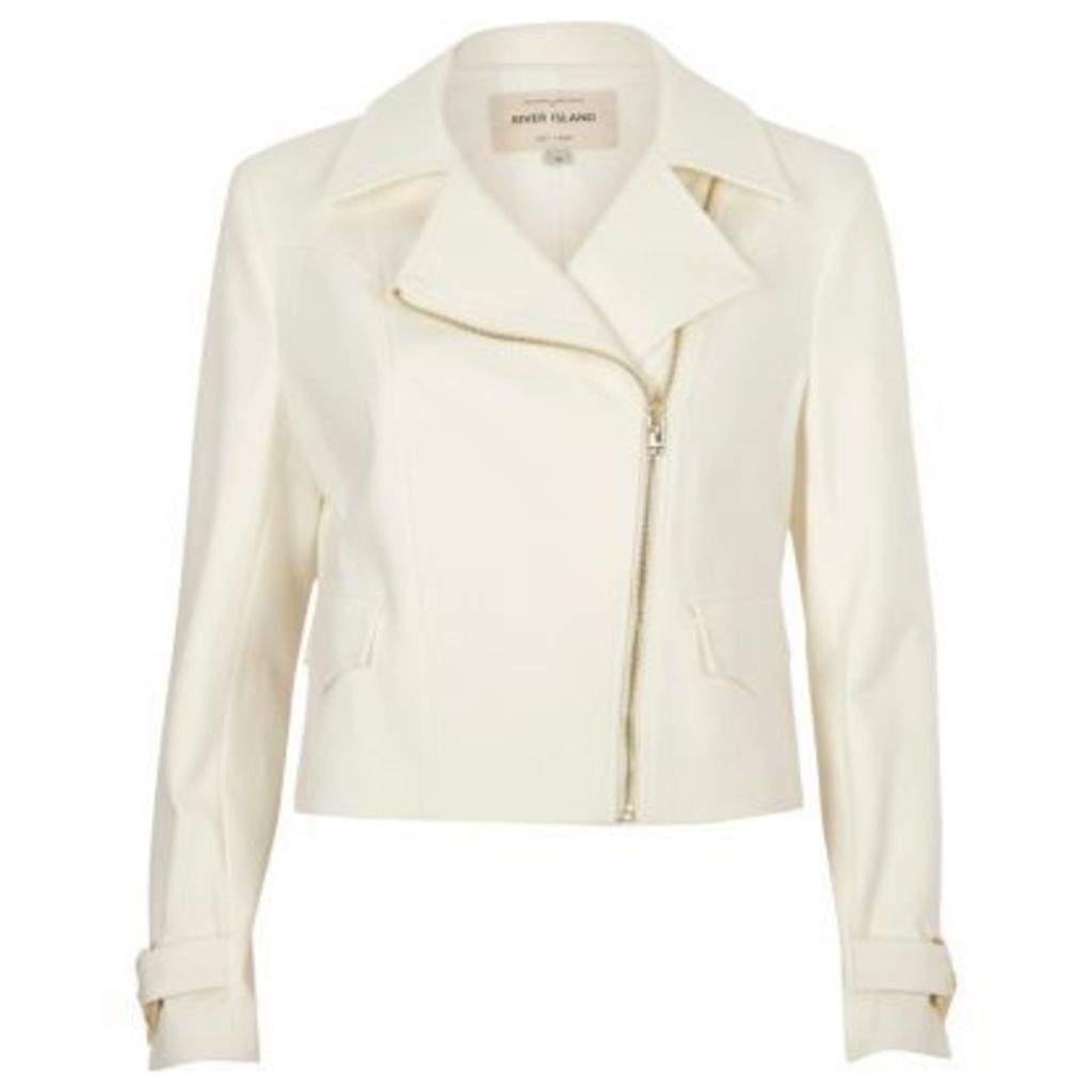 River Island Womens Cream biker jacket