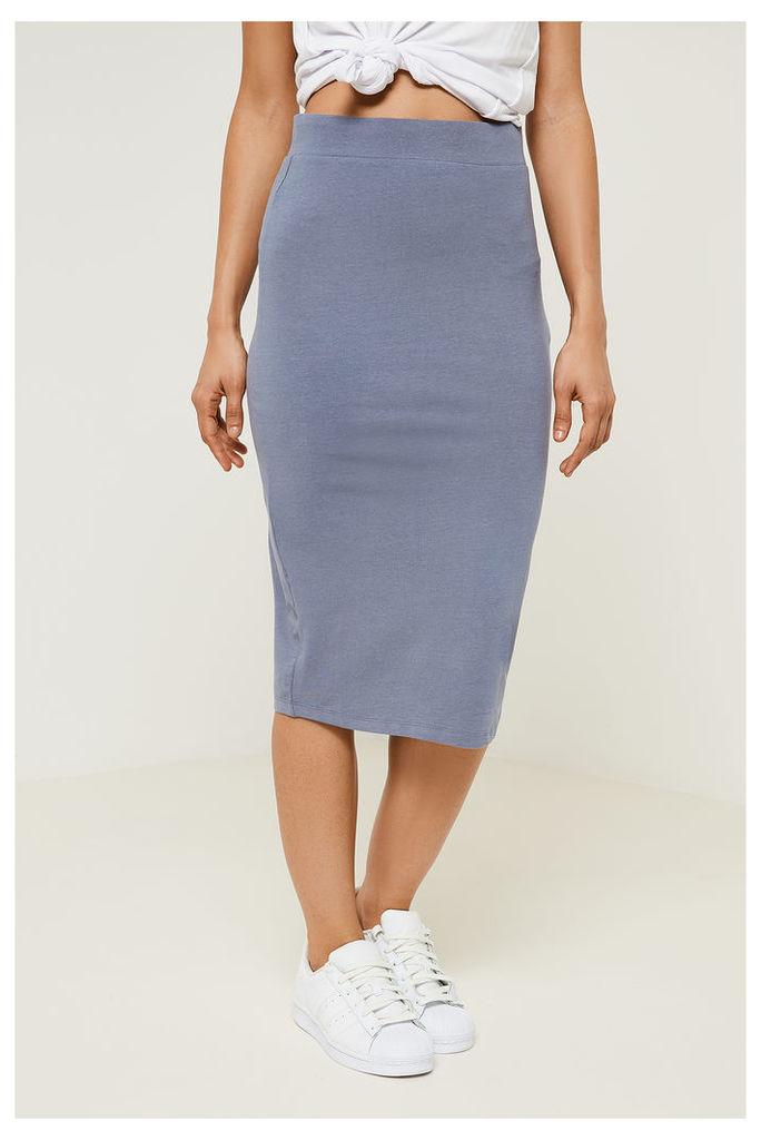 Vila Honesty Jersey Skirt - Grey