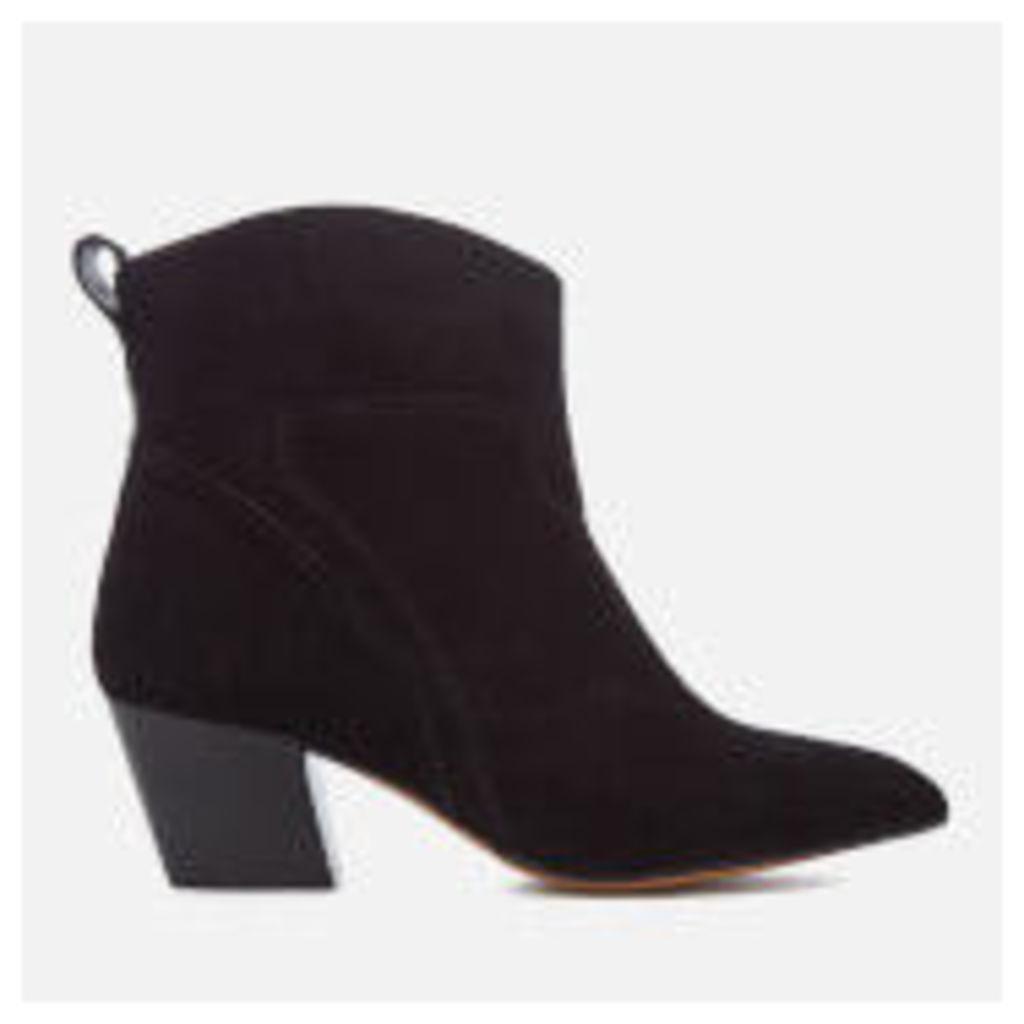 Hudson London Women's Karyn Suede Heeled Ankle Boots - Black