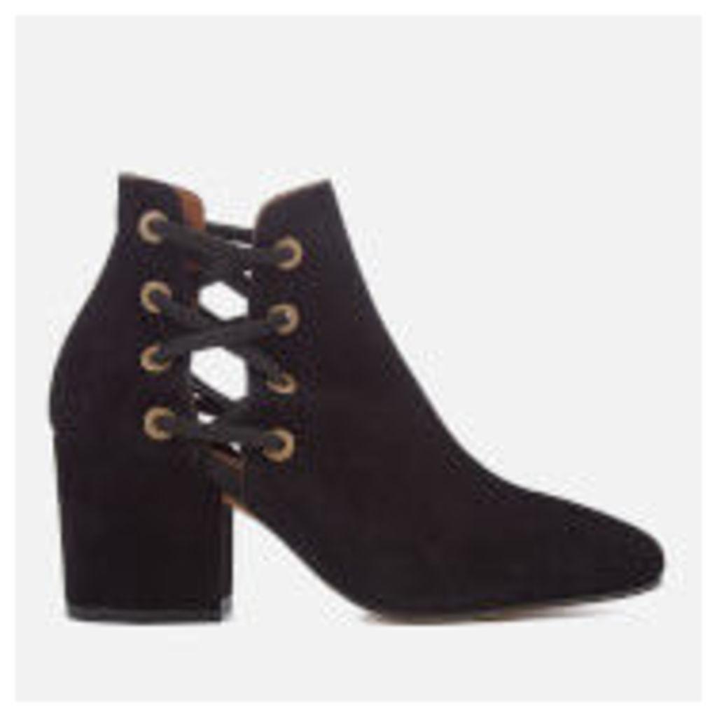 Hudson London Women's Kris Suede Heeled Ankle Boots - Black