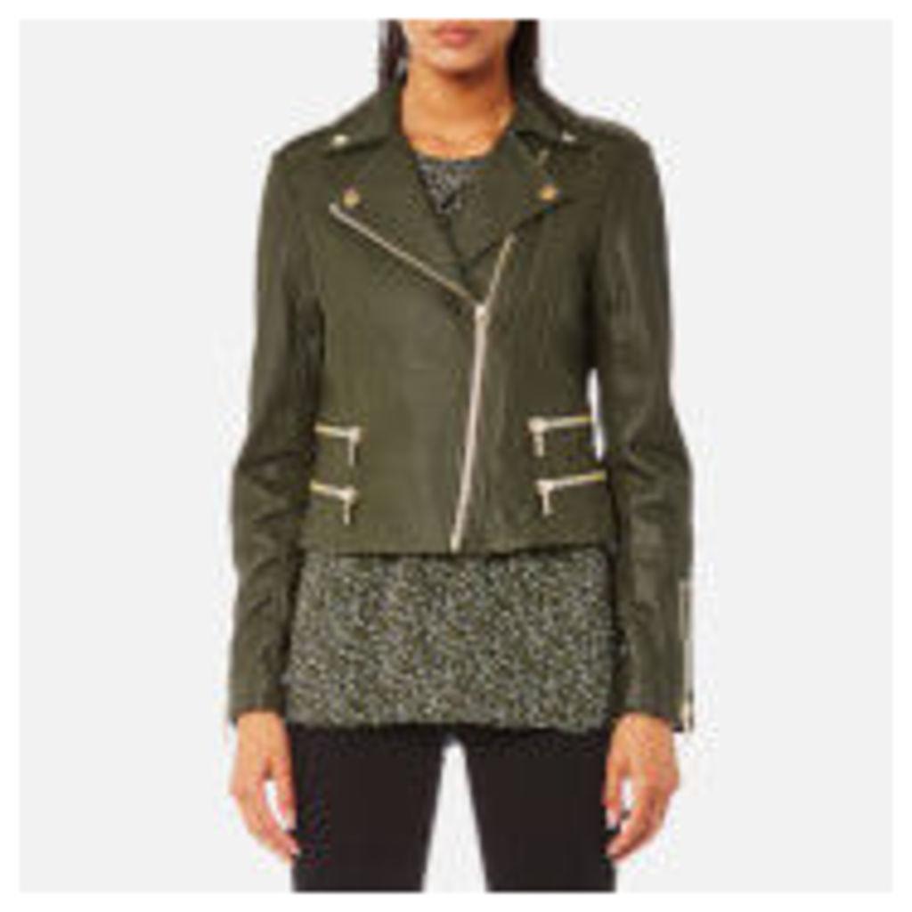 MICHAEL MICHAEL KORS Women's Four Pocket Biker Jacket - Ivy