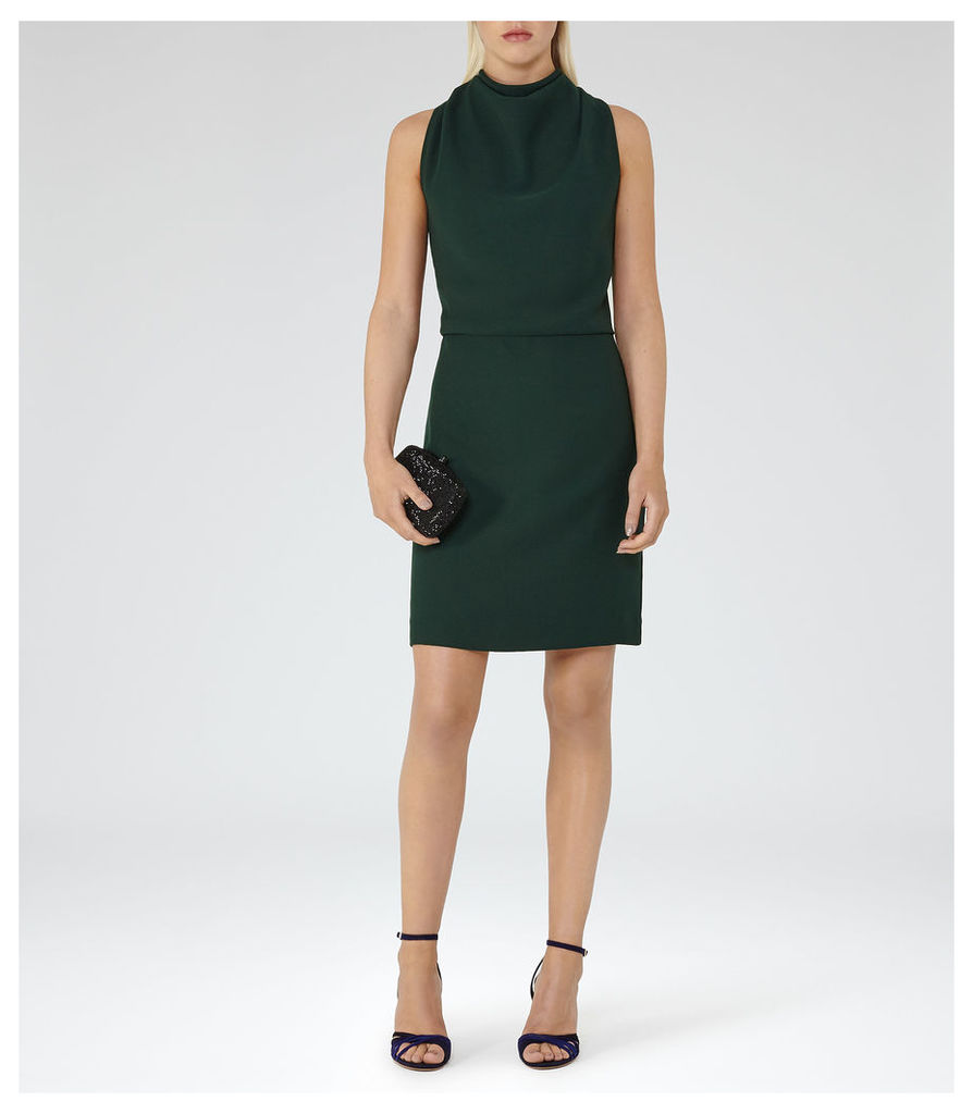 REISS Sicily - Womens Lace-back Dress in Green