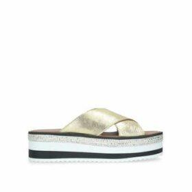 Womens Gold High Heel Court Shoesnine West, 5.5 UK