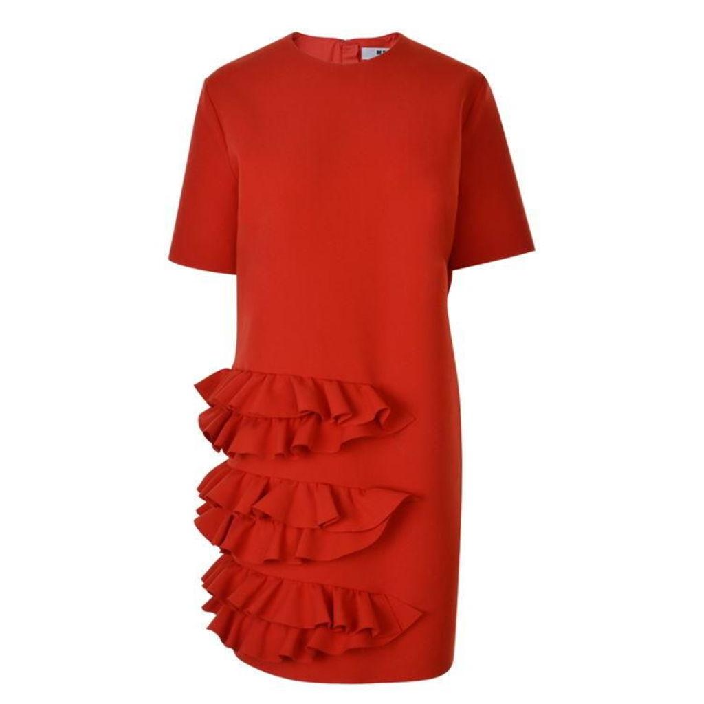 MSGM Ruffle Panel Dress