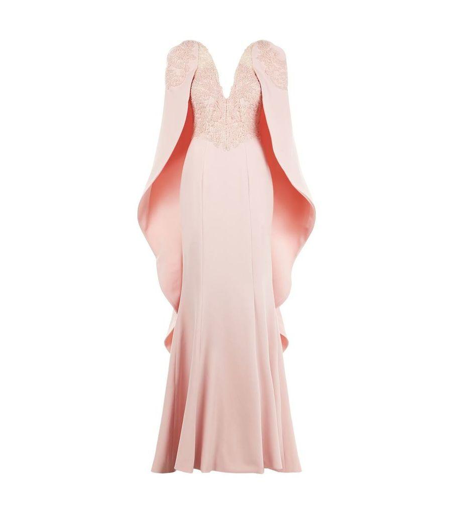 Cape Mermaid Gown