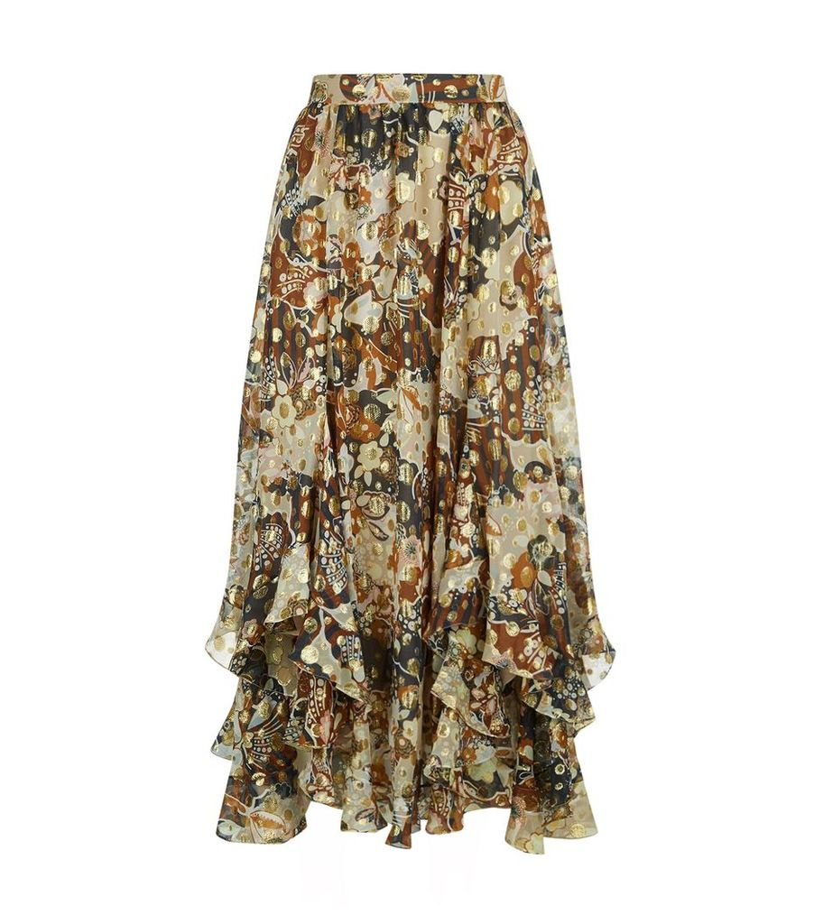 Flou Printed Midi Skirt