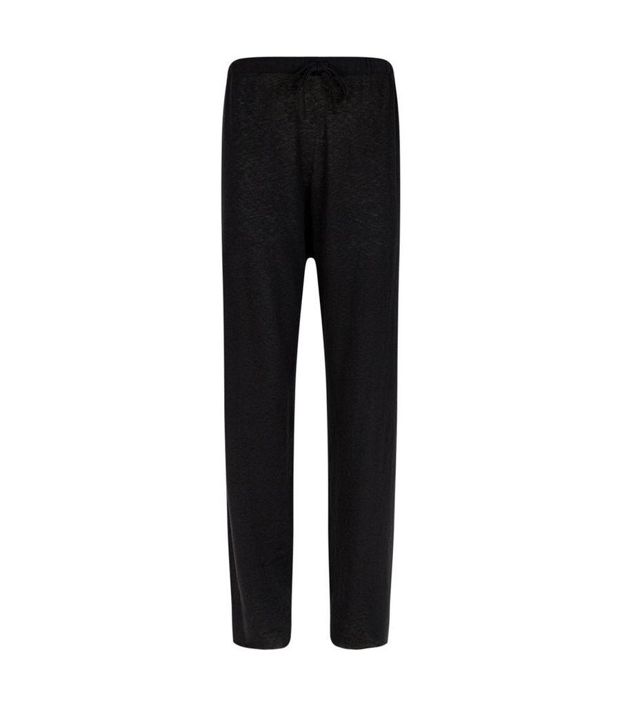 Pepita Cashmere-Silk Sweatpants
