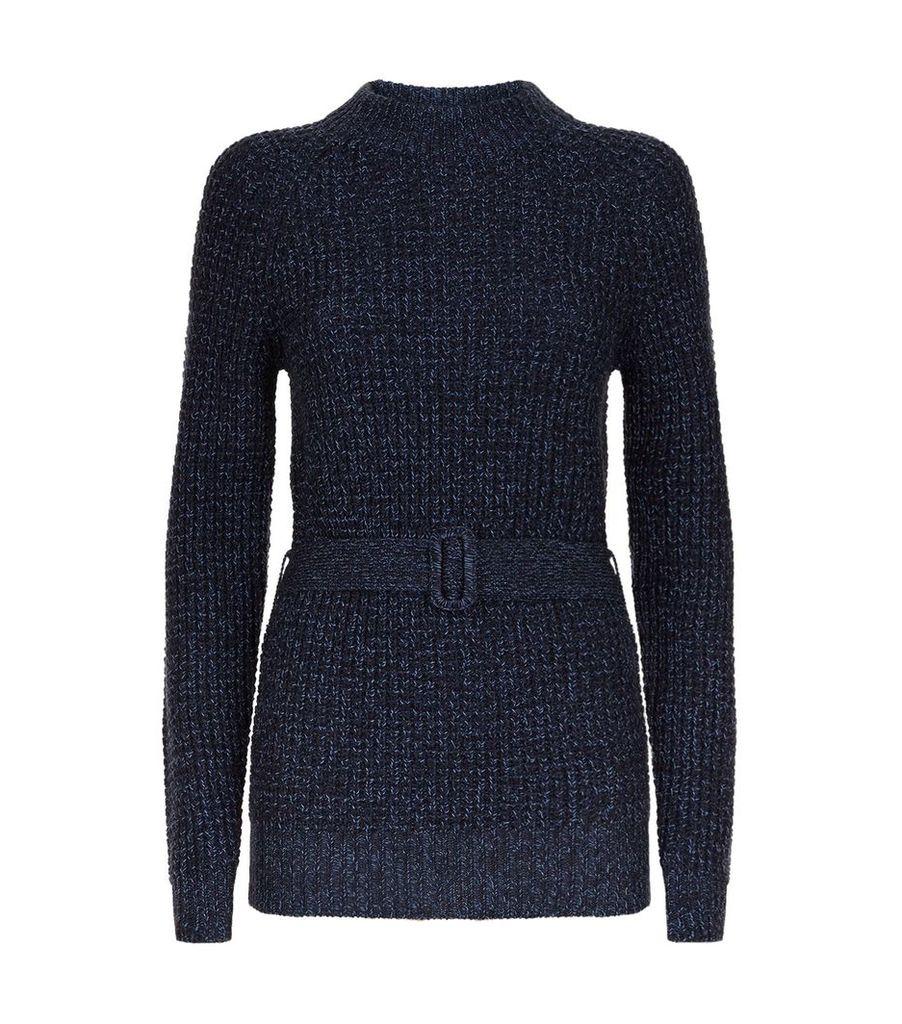 Tie Waist Fisherman Sweater