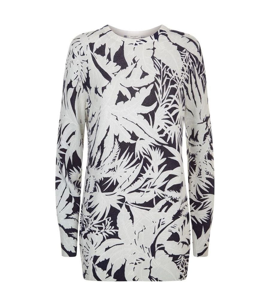 Tropical Print Rei Cashmere Sweater