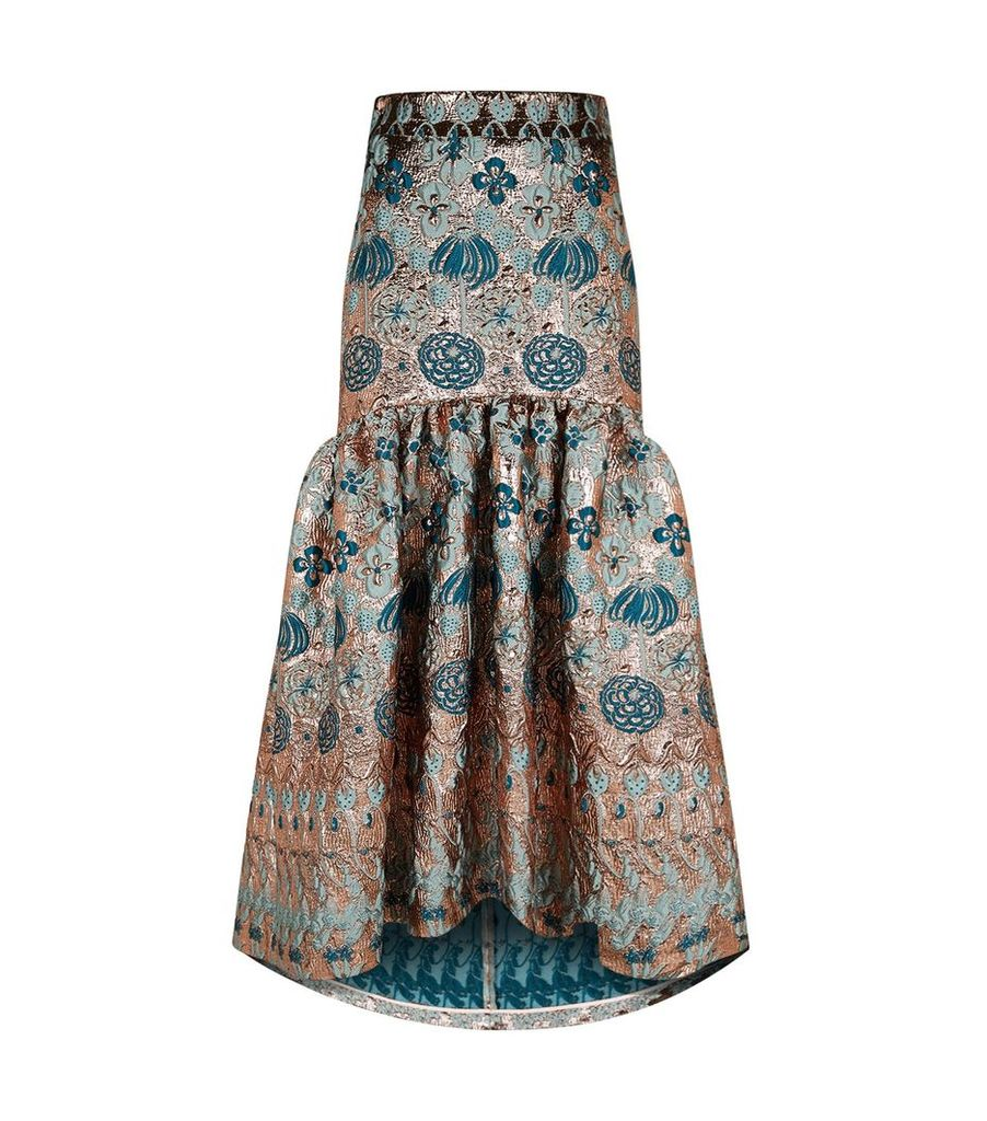Tower Jacquard Gown Skirt