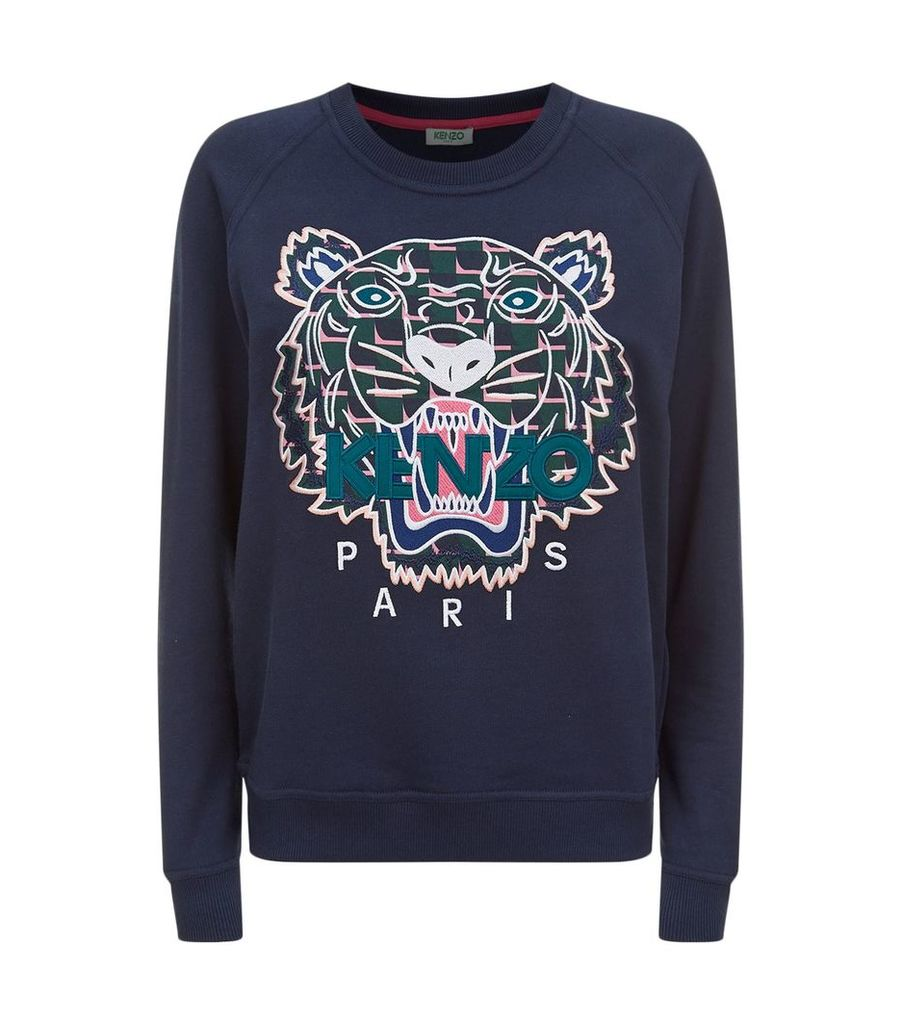 Icon Tiger Motif Sweatshirt