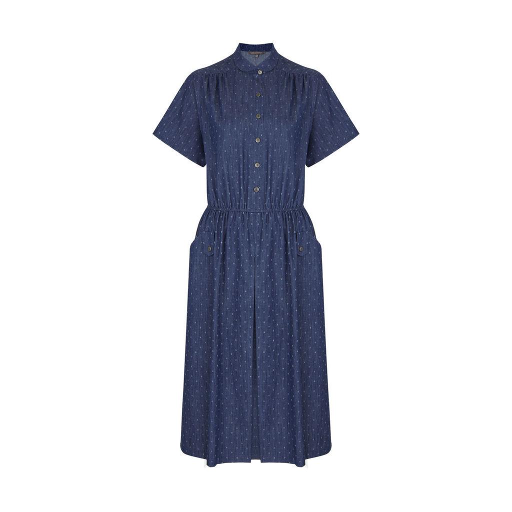 Denim Dobby Dress