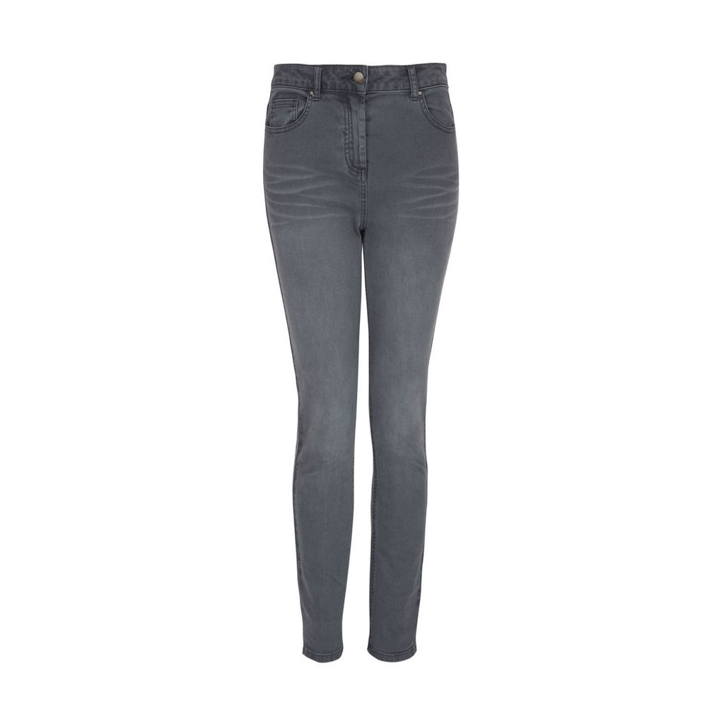Grey Ankle Length Jeans