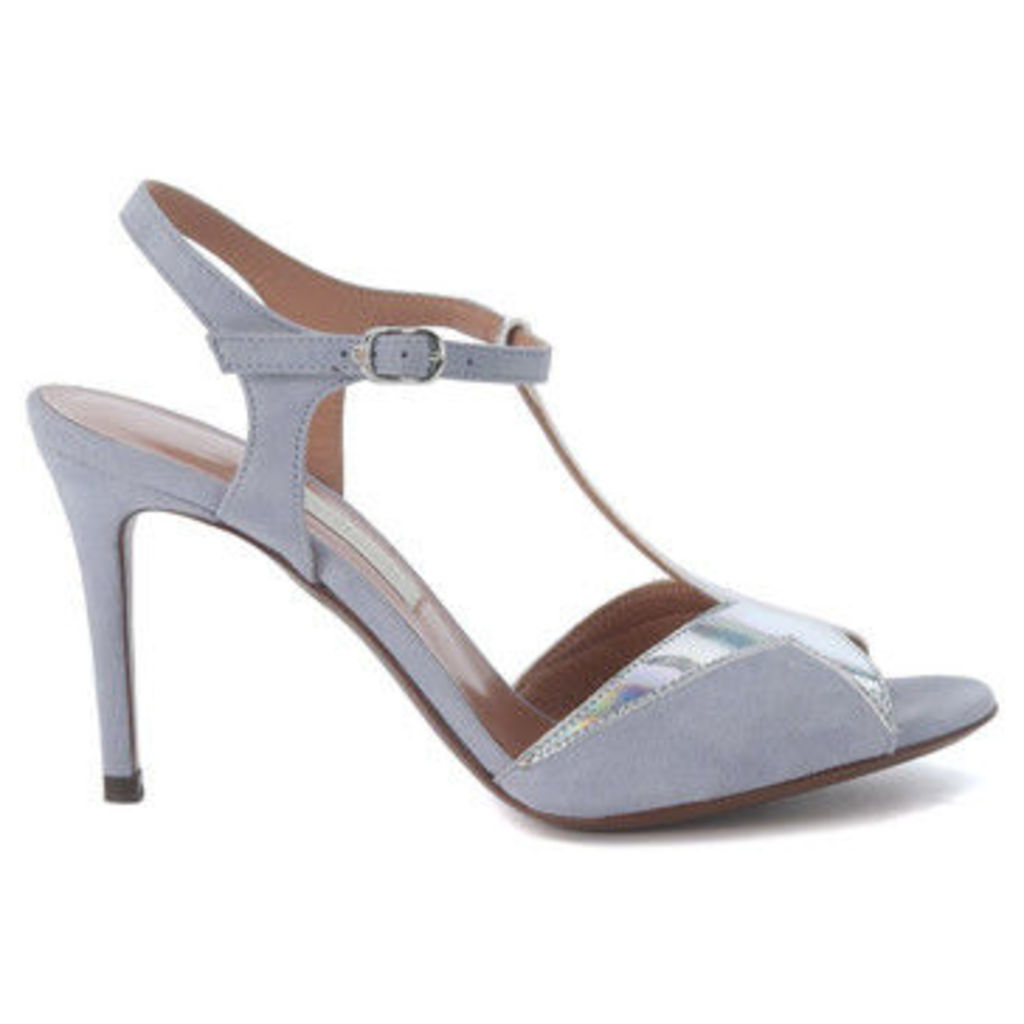 L apos;autre Chose  Sandalo con tacco  in suede dusty blue  women's Sandals in Silver