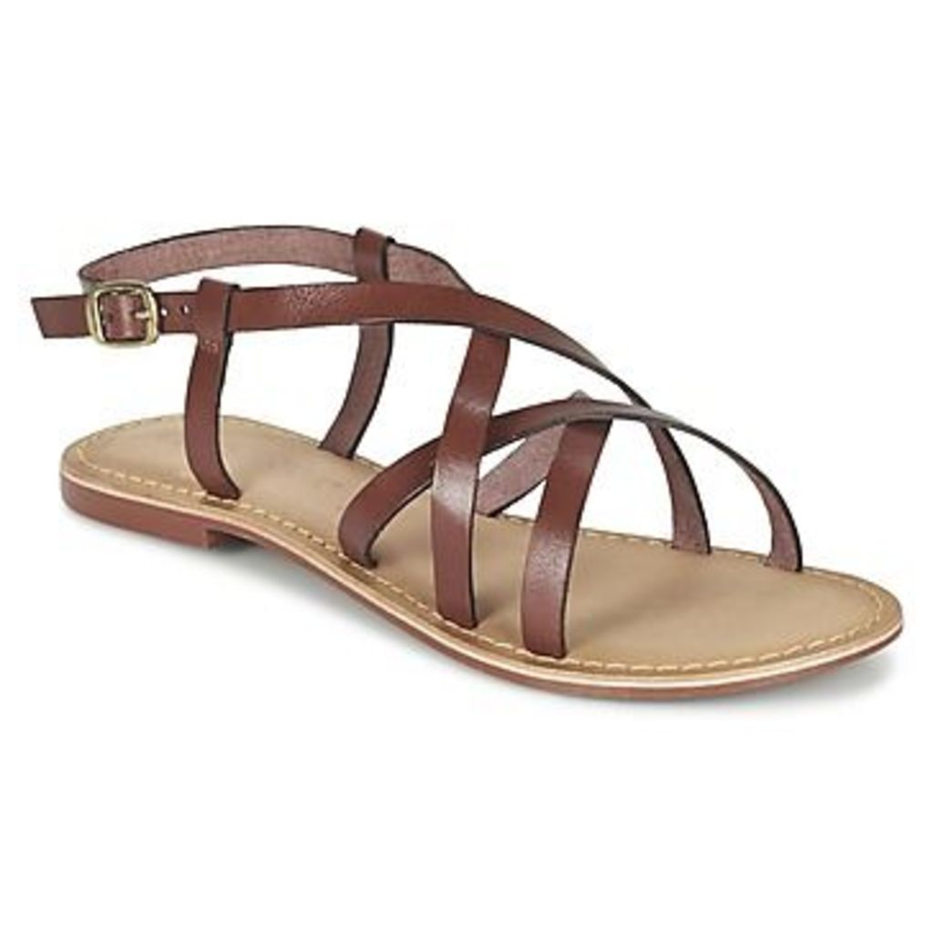 Vero Moda  VMVINA LEATHER SANDAL  women's Sandals in Brown