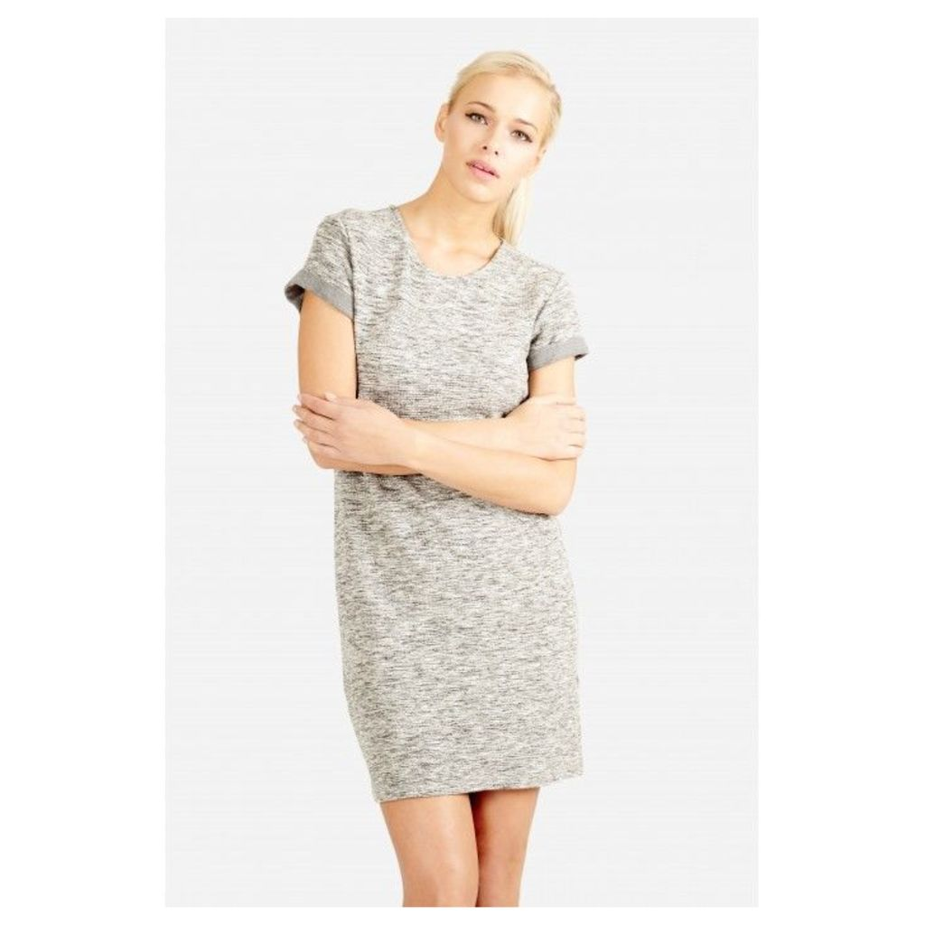 RIB SWEAT TUNIC DRESS