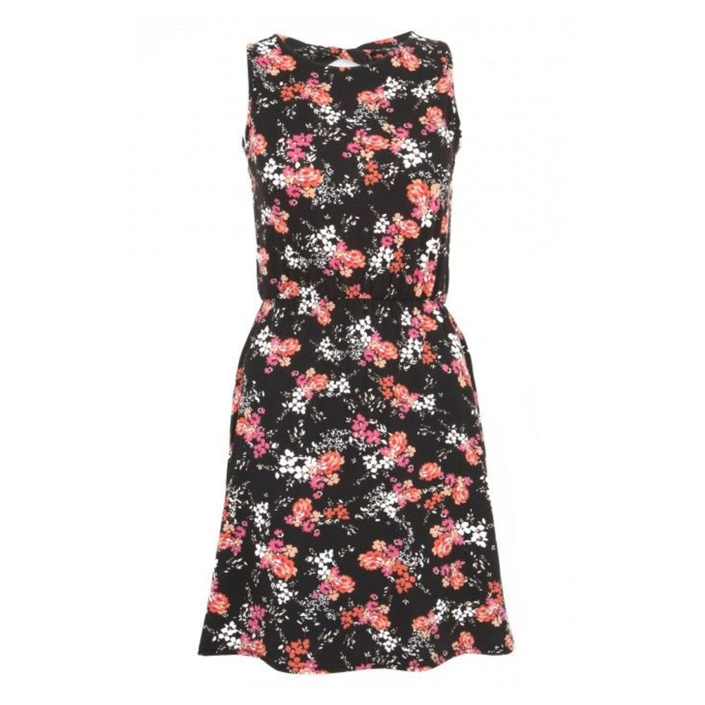 FLORAL CUT OUT BACK SKATER DRS