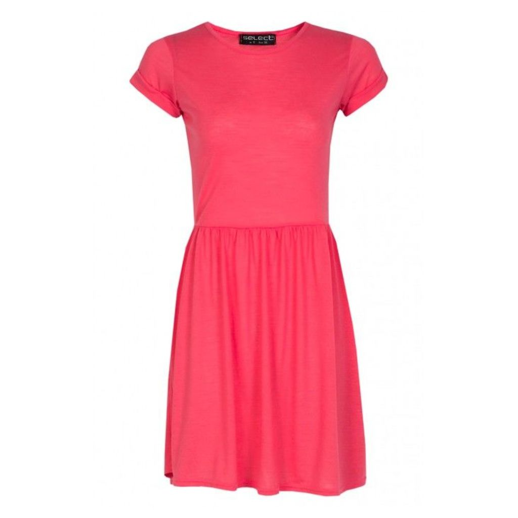 SLUB T-SHIRT SKATER DRESS