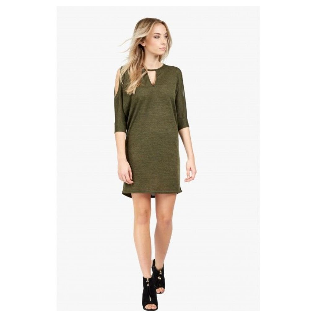 KEYHOLE BATWING TUNIC DRESS