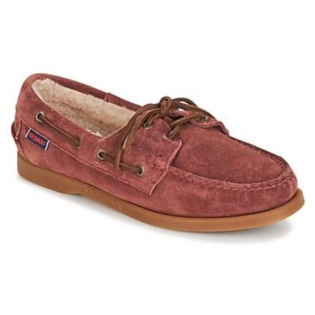 Sebago  DOCKSIDES SHEARLING  women's Boat Shoes in Red