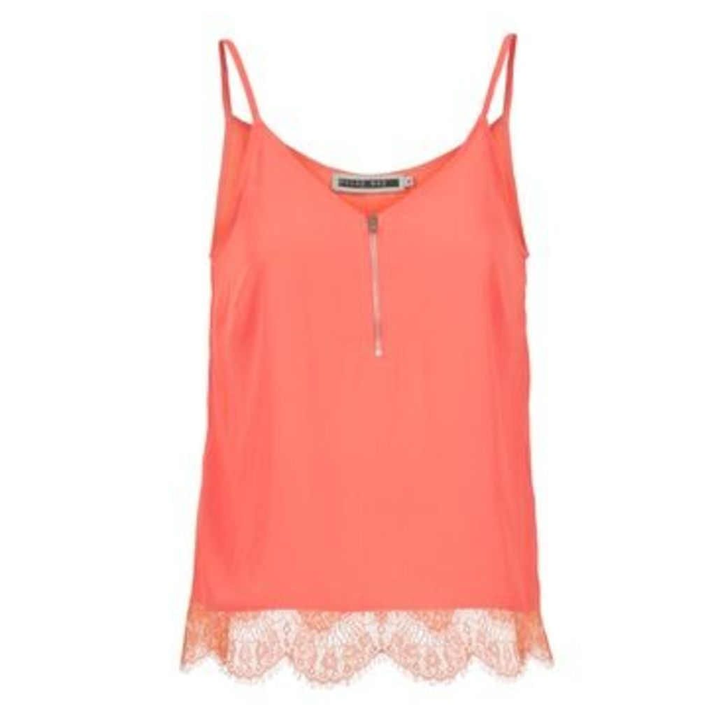 Noisy May  MENA TOP  women's Vest top in orange