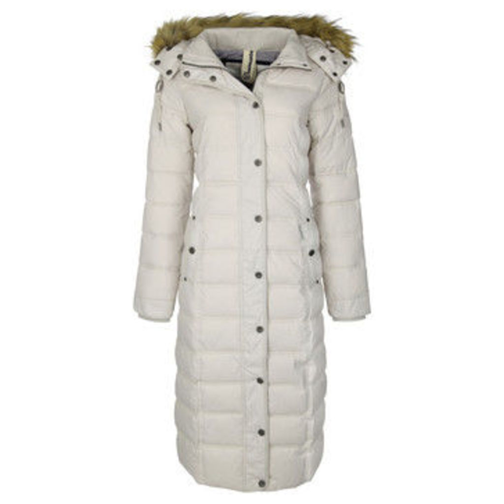 Dreimaster  Coat with detachable hood 37834892  women's Jacket in BEIGE