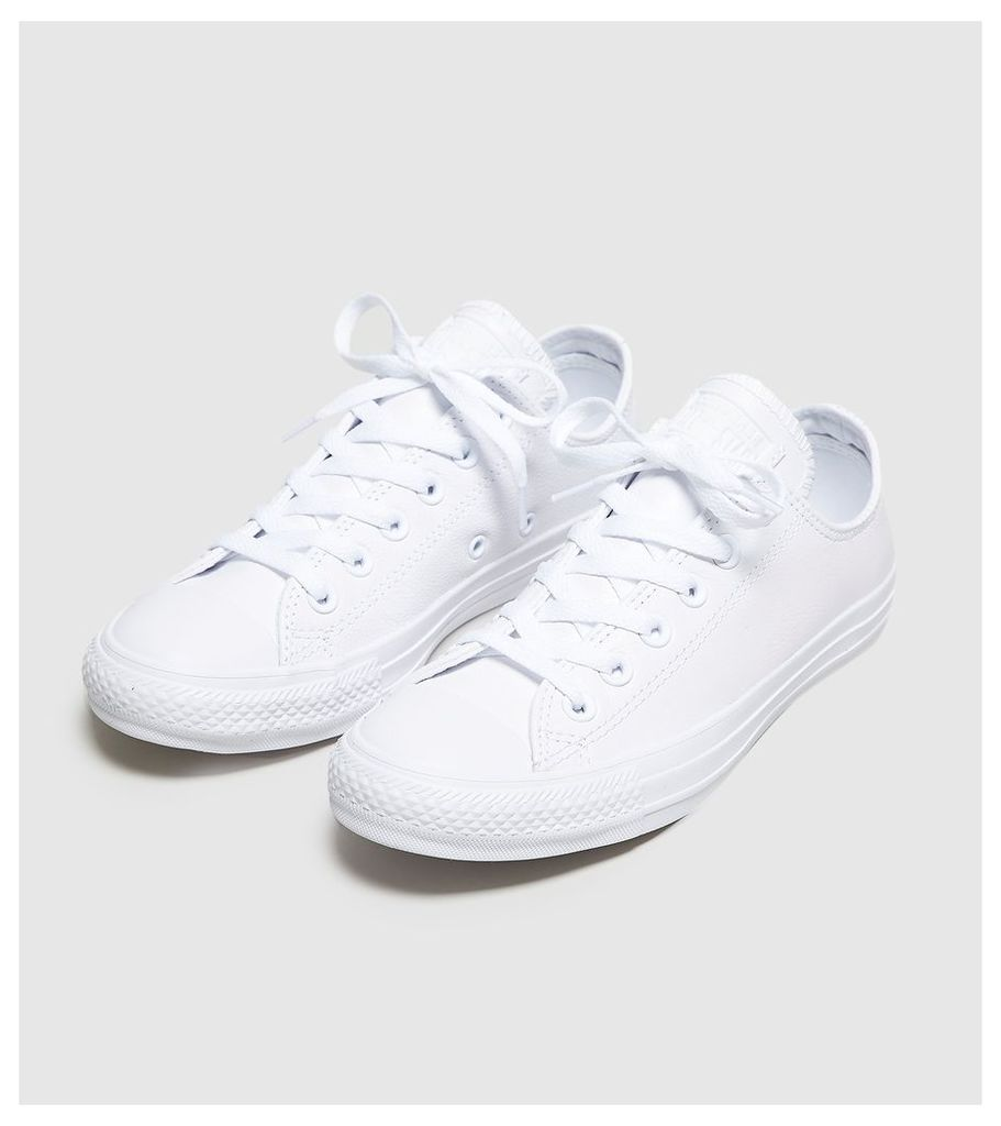 Converse All Star Leather Ox Women's, White/White