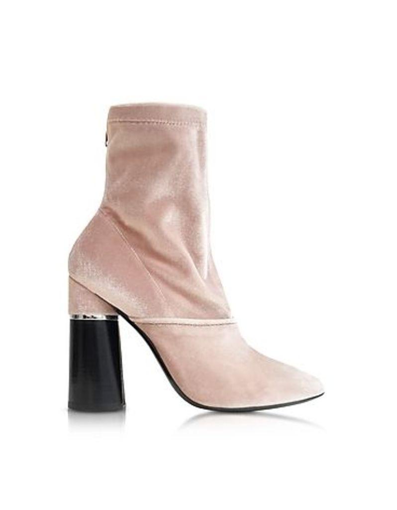 3.1 Phillip Lim - Kyoto Blush Velvet Stretch High Heel Ankle Boots