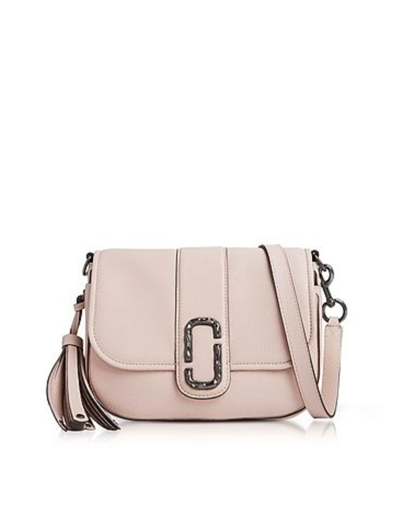Marc Jacobs - Pale Pink Pebbled Leather Interlock Small Courier Crossbody Bag
