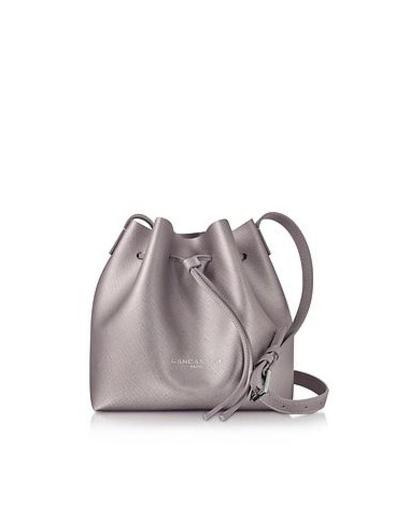 Lancaster Paris - Pur & Element Rose Gold Saffiano Leather Mini Bucket Bag