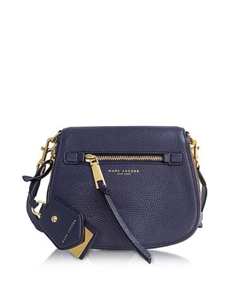 Marc Jacobs - Recruit Midnight Blue Leather Small Saddle Bag