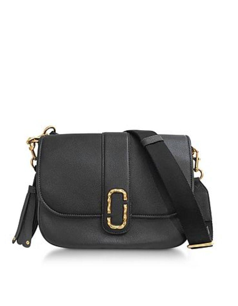 Marc Jacobs - Courier Black Leather Shoulder Bag