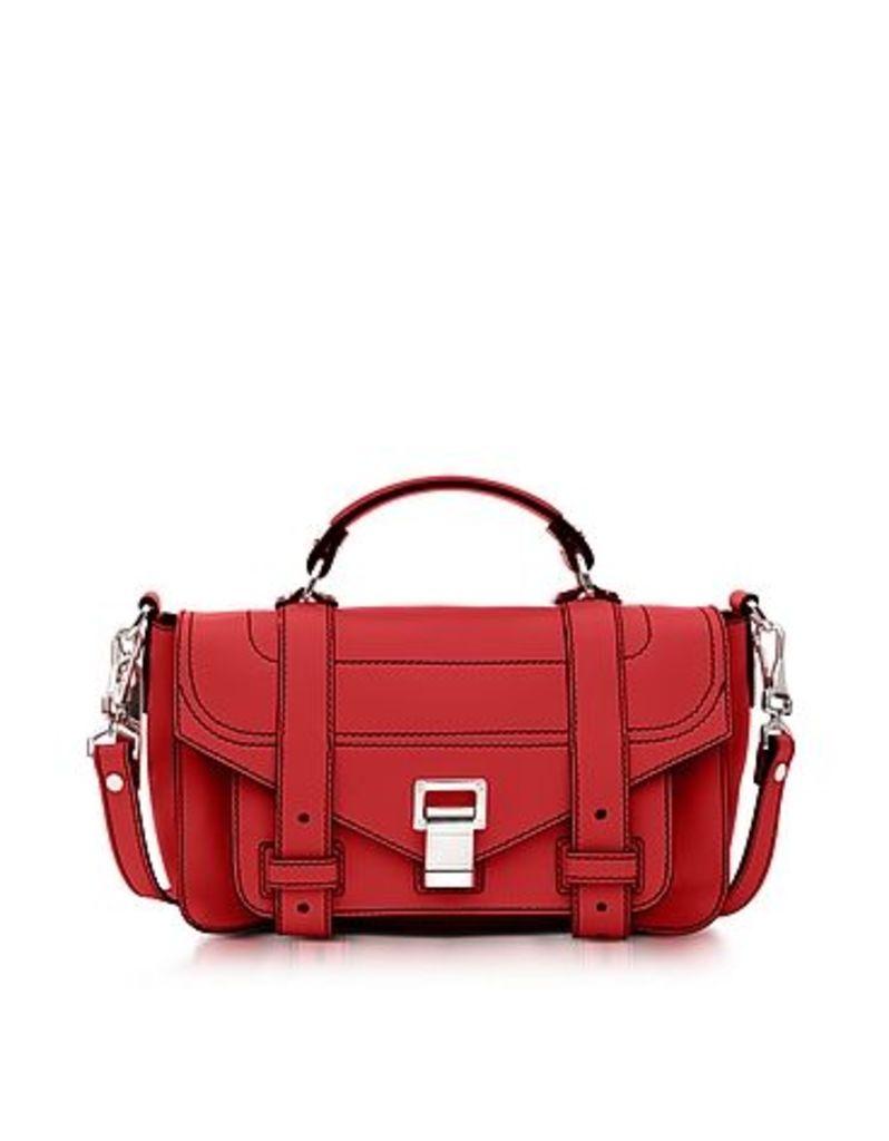Proenza Schouler - PS1+ Tiny Cardinal Leather Flap Handbag