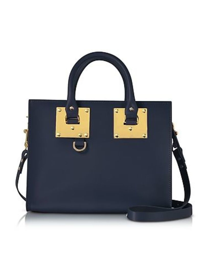 Sophie Hulme - Deep Navy Albion Saddle Leather Medium Tote Bag