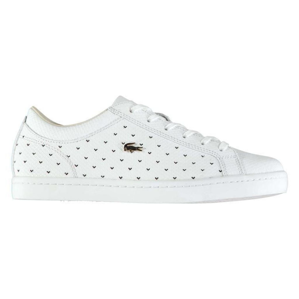 LACOSTE Lacoste Straightset Perforated Trainers