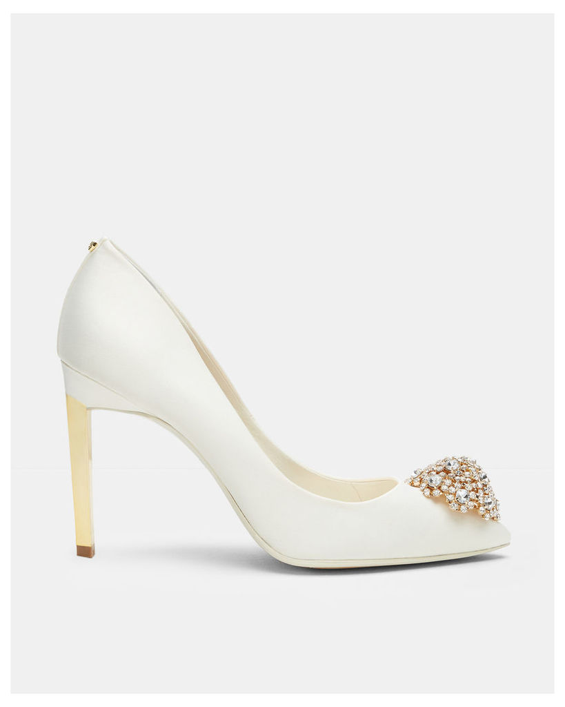 Ted Baker Brooch detail court shoes Ivory