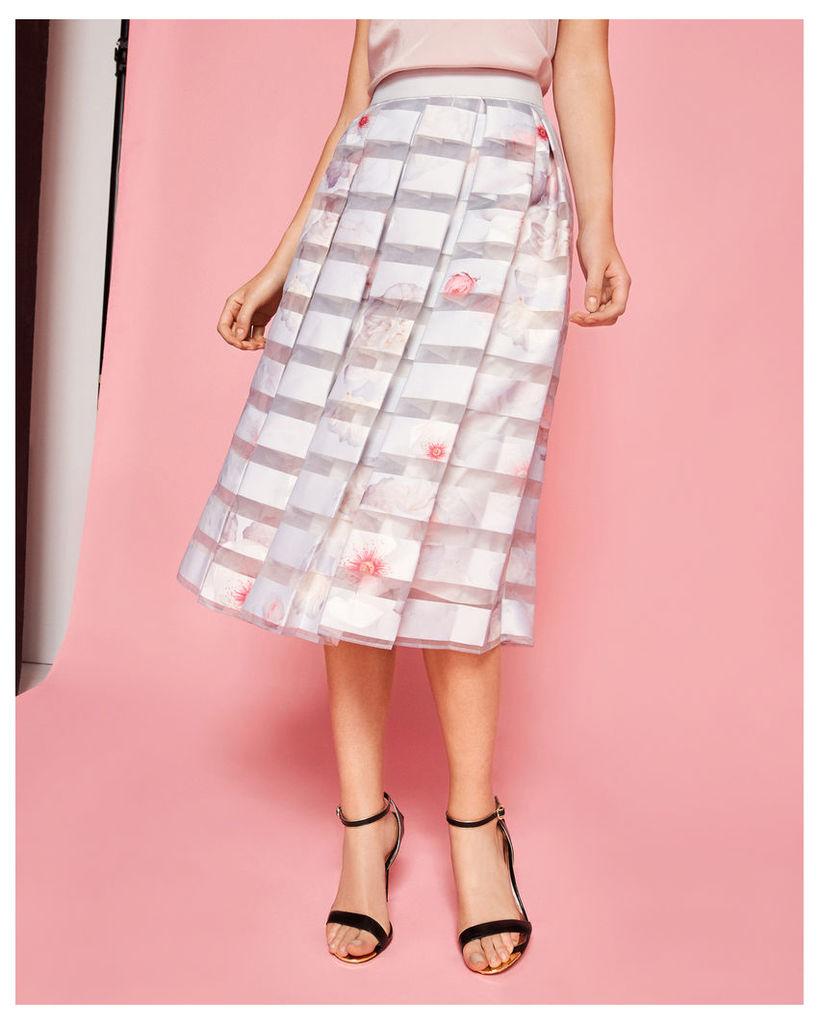 Ted Baker Chelsea Grey pleated skirt Light Grey