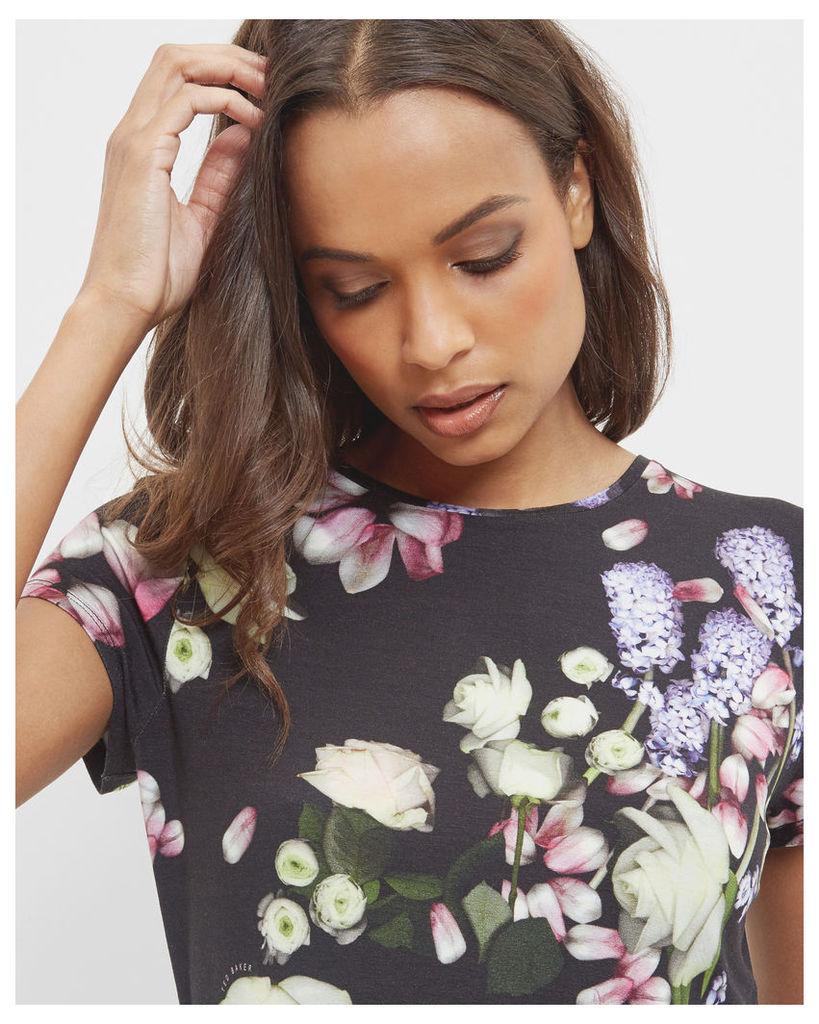 Ted Baker Kensington Floral fitted T-shirt Black