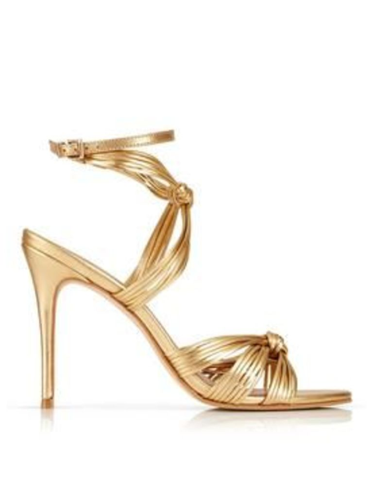 Kurt Geiger London Eliza Knotted Leather Sandals - Gold