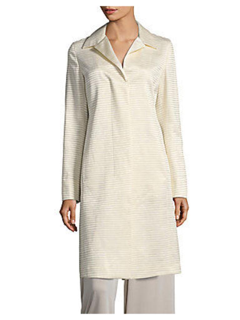 Aida Striped Silk-Blend Jacket